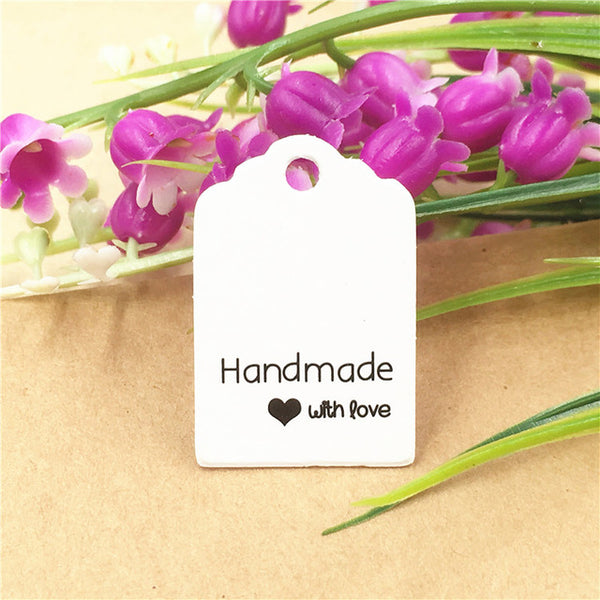 Craft Paper Lovely Handmade Price Tag Labels (200pc/set) - The Baking Buddies