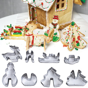 Amazing 3D Christmas Cookie Cutter Set (8PC set) - The Baking Buddies