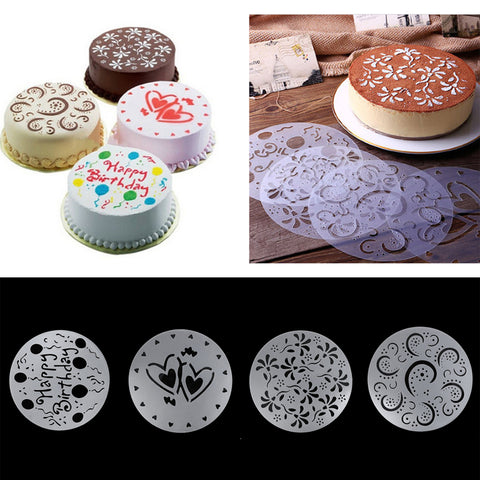 Cake Spray Stencils for Round Cakes (4 styles) - The Baking Buddies