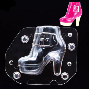 3D Plastic Women Boots Mold with magnets - The Baking Buddies