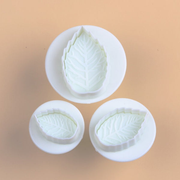 Leaf Petal  Mold Cutter Tools (3pcs) - The Baking Buddies