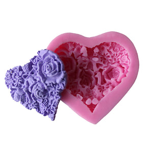 Silicone Detailed Heart Cake Mold - The Baking Buddies