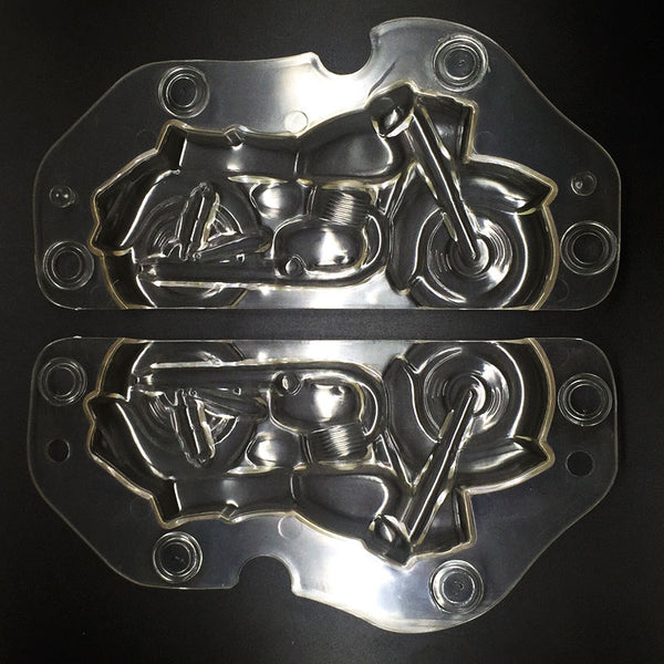 3D Plastic Motorcycle Chocolate Mold - The Baking Buddies