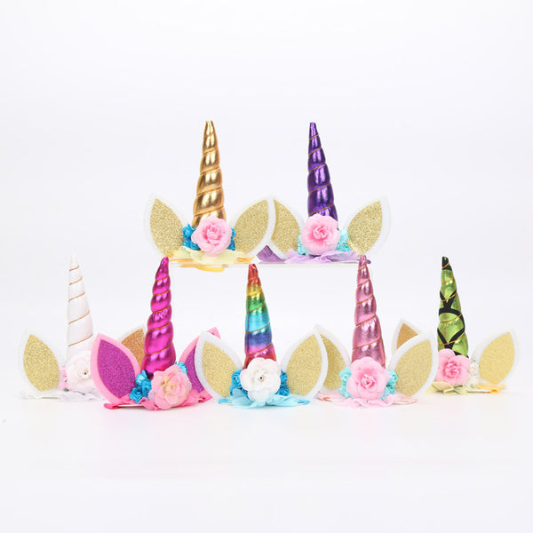 Extravagant Unicorn Horn Cake Topper Decoration - The Baking Buddies