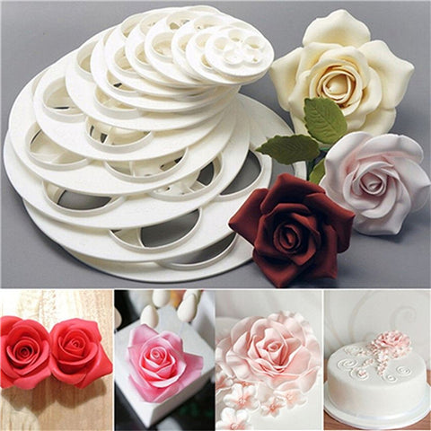Beautiful Rose Flower Mold Decoration Fondant Cutter Tools