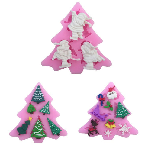 Festive Fondant Christmas Tree Shaped Silicone Mold - The Baking Buddies