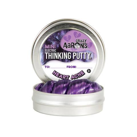 "Crazy Aaron's - Mini Electric Thinking Putty (2"" Tin) - Heart Ache"