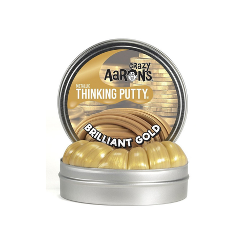 "Crazy Aaron's - Mini Metallic Thinking Putty (2"" Tin) - Brilliant Gold"