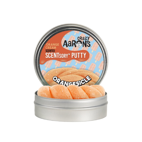 "Crazy Aaron's - Orange Cream Scented SCENTsory Putty (2.75"" Tin) - Orangesicle"