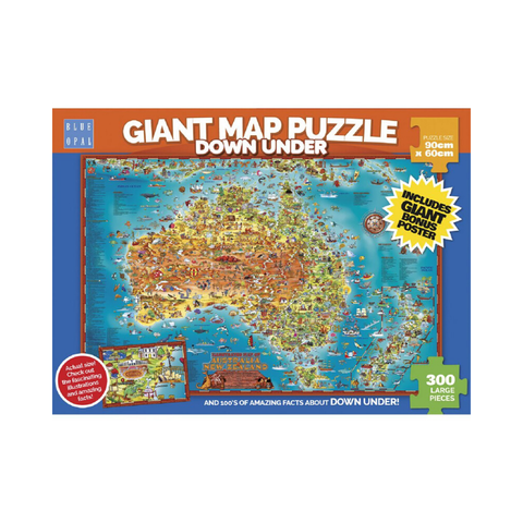 Blue Opal - Down Under Giant Map Puzzle 300pc