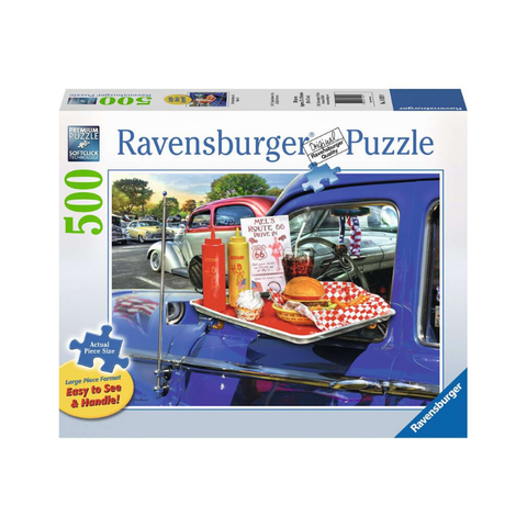 Ravensburger - Drive-Thru Route 66 500pc (Large Piece Format)