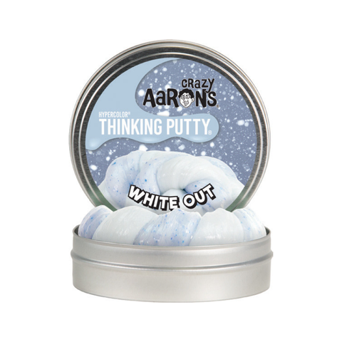 "Crazy Aaron's - Hyperdot Thinking Putty (4"" Tin) - White Out"