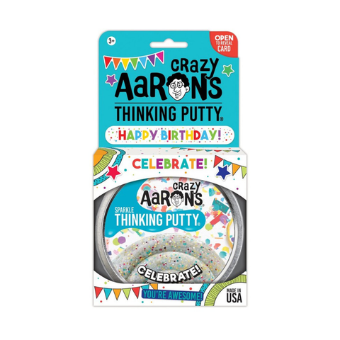 "Crazy Aaron's - Sparkle Thinking Putty (4"" Tin) - Celebrate!"