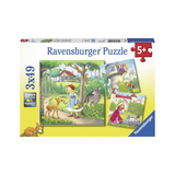 Ravensburger - Rapunzel, Riding Hood and Frog 3 x 49pc