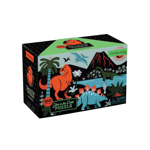 Mudpuppy - Glow in the Dark Puzzle - Dinosaurs 100pc