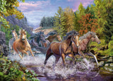 Ravensburger - Rushing River Horses 100pc