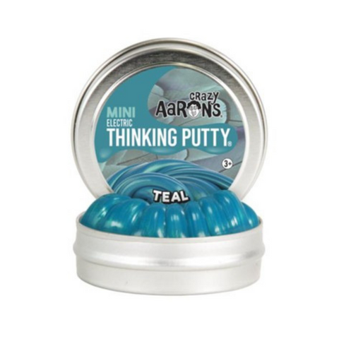 "Crazy Aaron's - Mini Electric Thinking Putty (2"" Tin) - Teal"