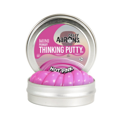 "Crazy Aaron's - Mini Primary Thinking Putty (2"" Tin) - Hot Pink"