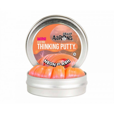 "Crazy Aaron's - Mini Electric Thinking Putty (2"" Tin) - Neon Flash"