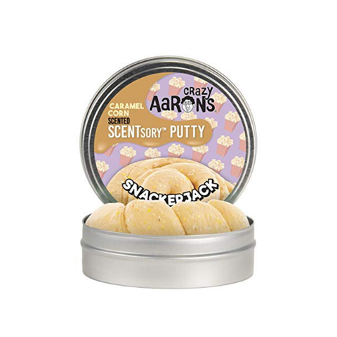 "Crazy Aaron's - Caramel Corn Scented SCENTsory Putty (2.75"" Tin) - Snackerjack"