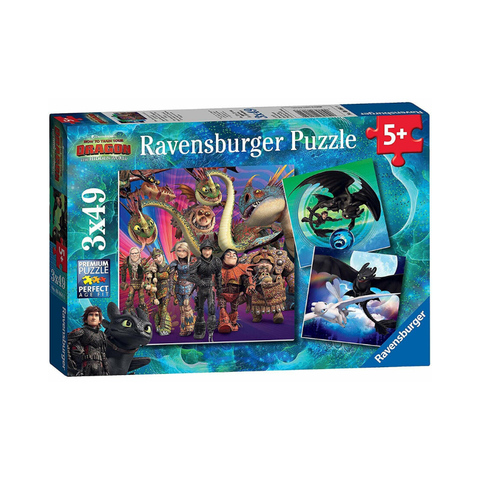Ravensburger - How to Train your Dragon 3 x 49pc