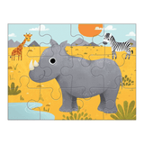 Mudpuppy - 4 in a Box Puzzle Set - Animals of the World