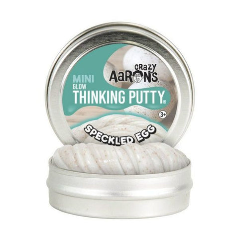 "Crazy Aaron's - Mini Glow in the Dark Thinking Putty (2"" Tin) - Speckled Egg"