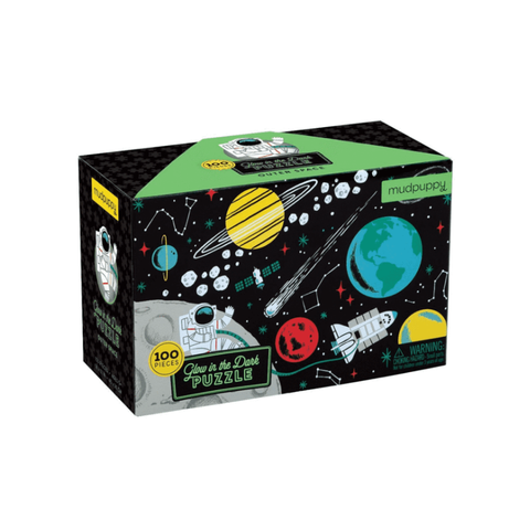 Mudpuppy - Glow in the Dark Puzzle - Outer Space 100pc