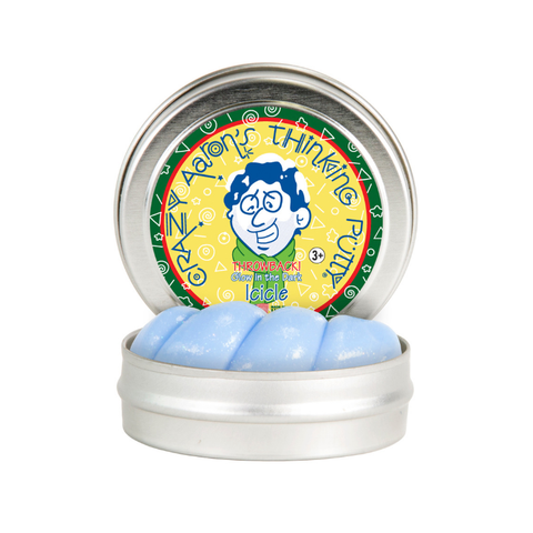 "Crazy Aaron's - Mini Glow in the Dark Thinking Putty (2"" tin) - Icicle"