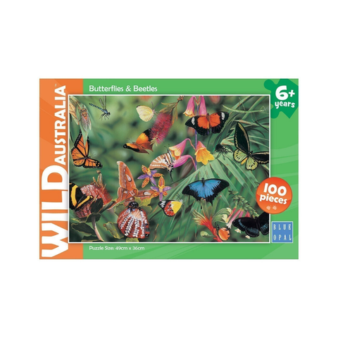 Blue Opal - Wild Australia - Butterflies & Beetles 100pc