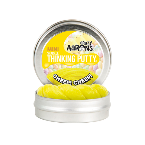 "Crazy Aaron's - Mini Sparkle Thinking Putty (2"" Tin) - Cheep! Cheep!"