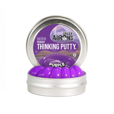 "Crazy Aaron's - Mini Primary Thinking Putty (2"" Tin) - Purple"