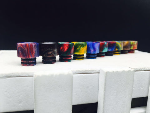 Small Resin Twin O' Ring Wide Bore 510 Drip Tips