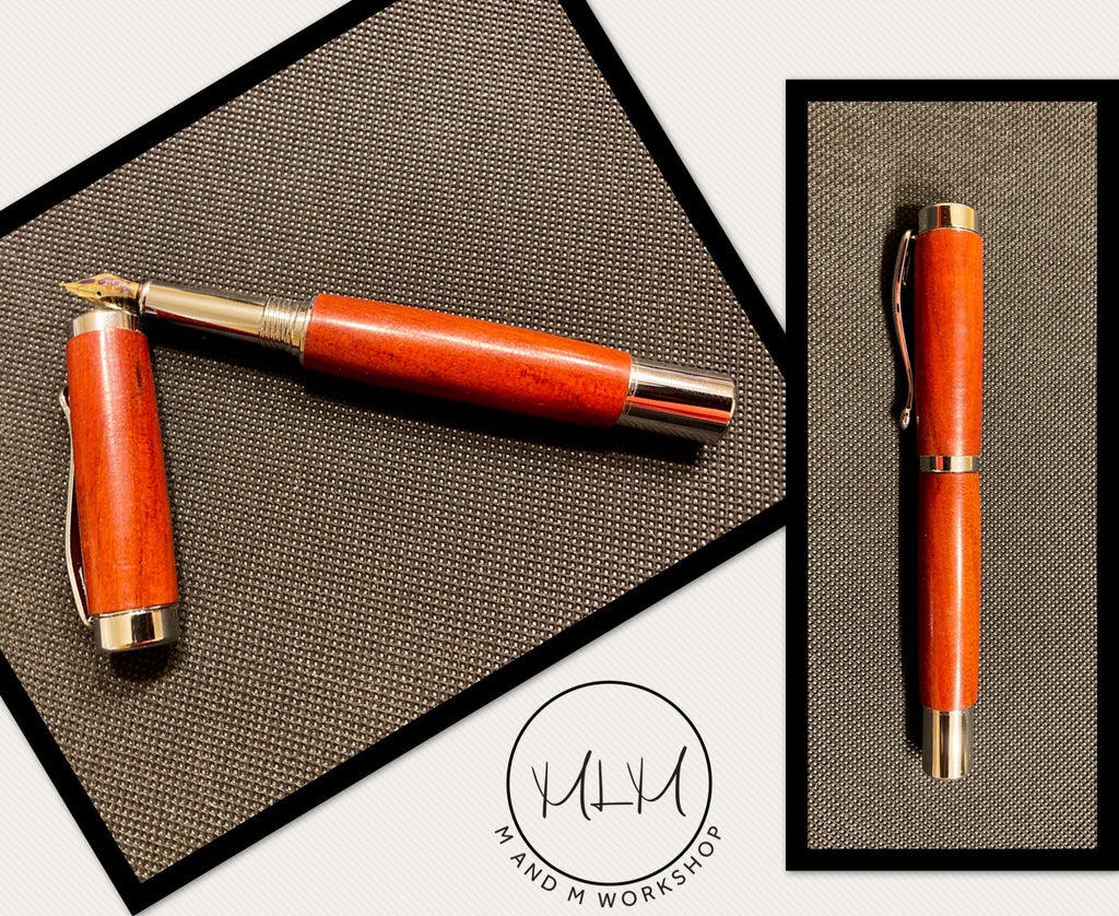 Redheart-Chrome Fountain Pen