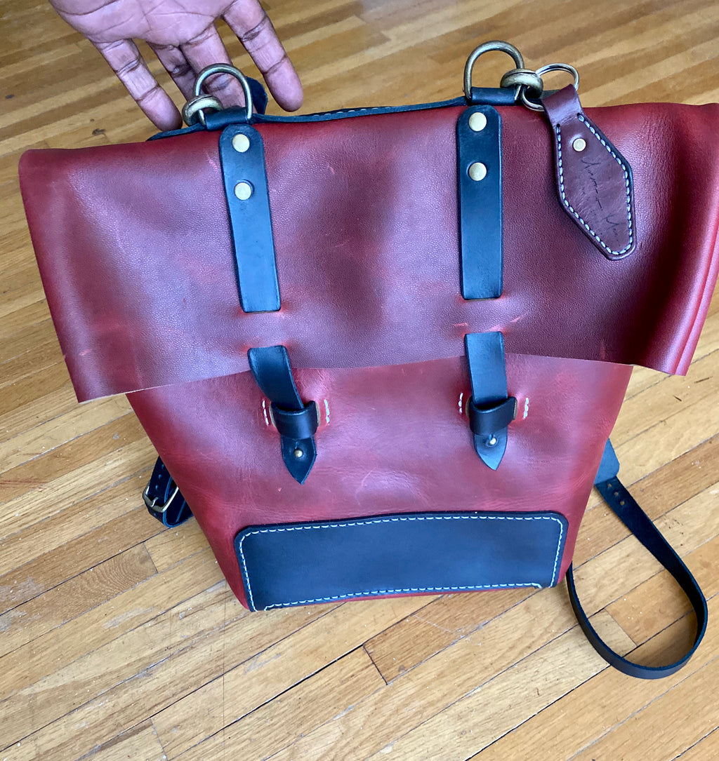 Hand-stitched Leather BackPack