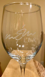 Personalized Laser Engraved Wine Glass