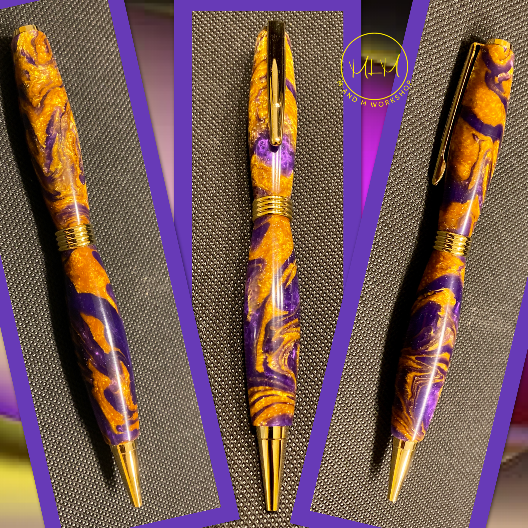 Purple and Gold Pen