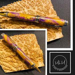 Cigar Pen- Purple & Gold