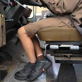 Pennsylvania UPS Driver Wearing Ink Armor Leg Sleeves