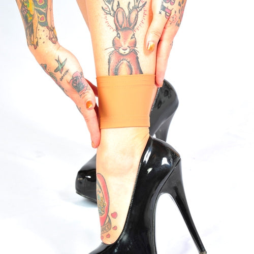 3 4 Tattoo Sleeve Cover: Light Skin Tone Ankle 3 Inch Tattoo Covers For Work