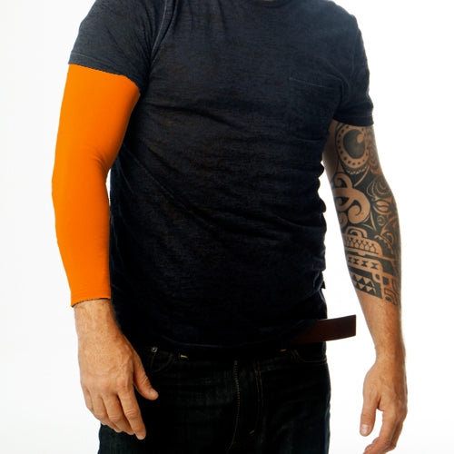 Ink Armor Tattoo Cover Up Sleeve - Full Arm (Neon Orange)