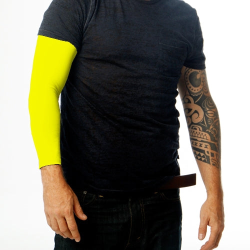 Ink Armor Tattoo Cover Up Sleeve - Full Arm (Neon Yellow)