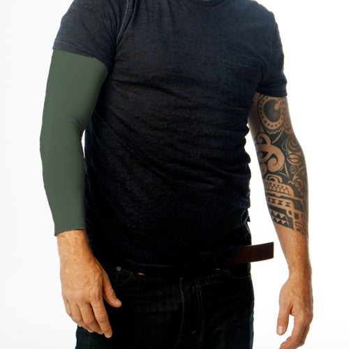 Ink Armor Tattoo Cover Up Sleeve - Full Arm (Olive Green)