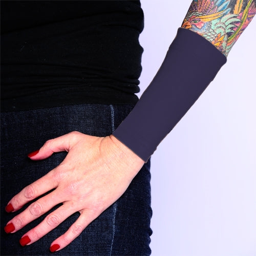 Ink Armor Tattoo Cover Up Sleeve - Forearm 6 in. (Dark Navy)