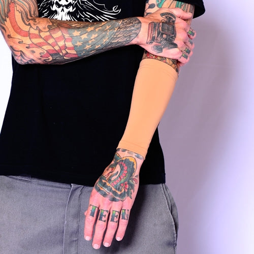 Green Camouflage Tattoo Cover Up Sleeve for Concealing Tattoos | Tat2X