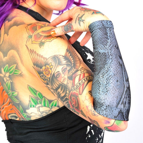 Ink Armor Tattoo Cover Up Sleeve - Forearm 9 in. (Silver)