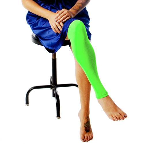 Ink Armor Tattoo Cover Up Sleeve - Full Leg (Neon Green)