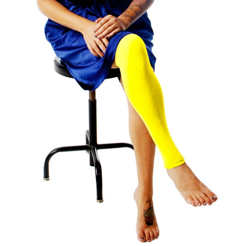Ink Armor Tattoo Cover Up Sleeve - Full Leg (Neon Yellow)