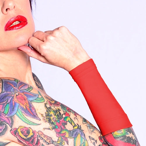 Ink Armor Tattoo Cover Up Sleeve - Forearm 9 in. (Red)