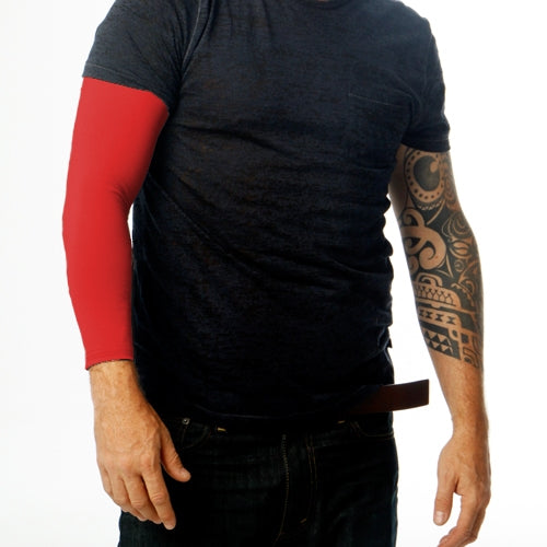 Ink Armor Tattoo Cover Up Sleeve - Full Arm (Red)